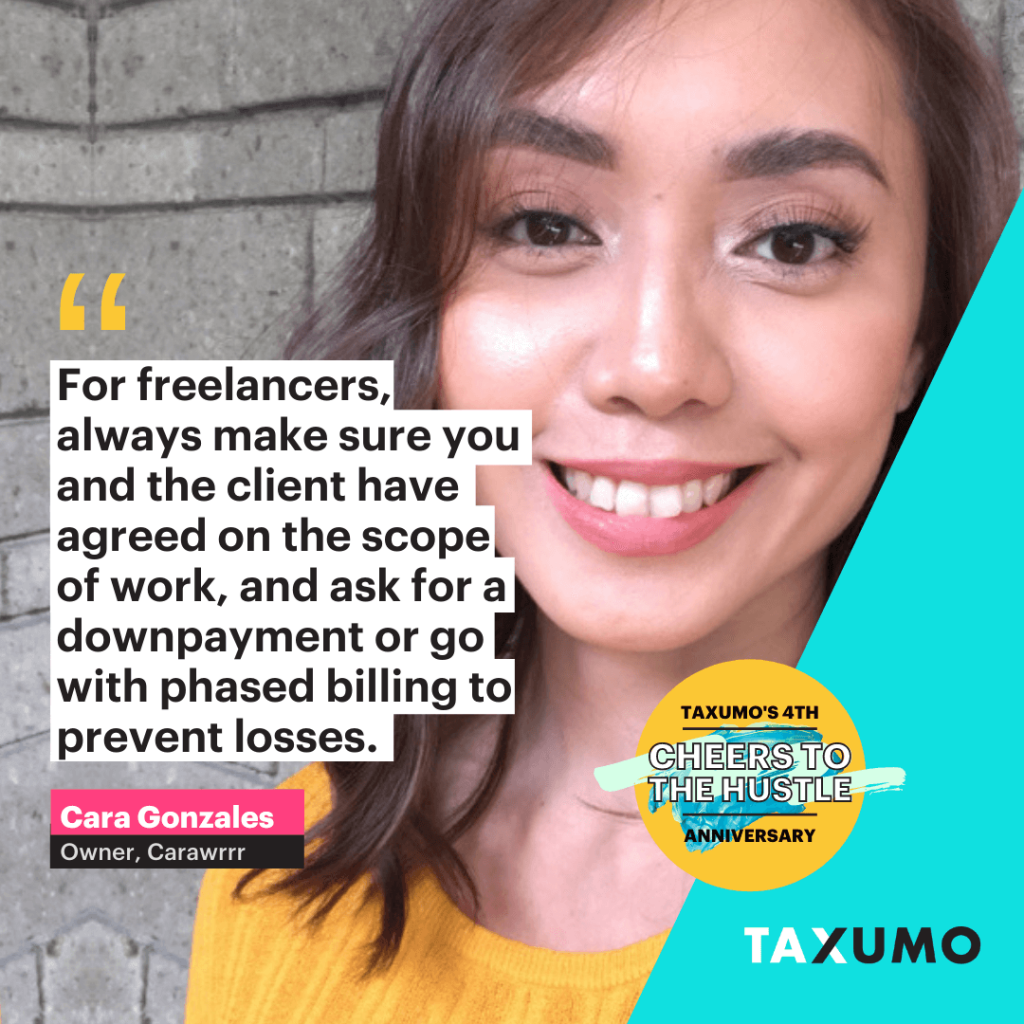 taxumo customer of the day cara gonzales advice